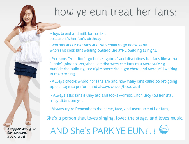 how-ye-eun-treay-her-fans